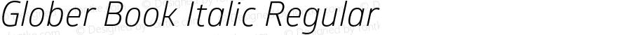 Glober Book Italic Regular Version 1.000
