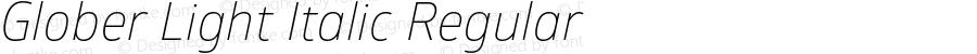 Glober Light Italic Regular Version 1.000