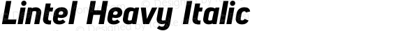 Lintel Heavy Italic