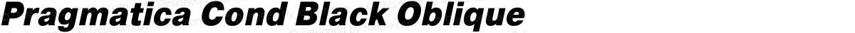 Pragmatica Cond Black Oblique