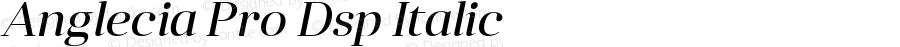 Anglecia Pro Dsp Italic Version 001.000