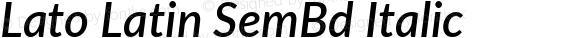 Lato Latin SemBd Italic 2.006