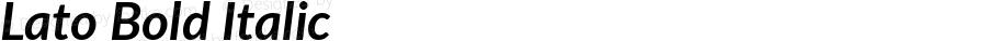 Lato Bold Italic Version 2.007; 2014-02-27