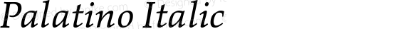Palatino Italic