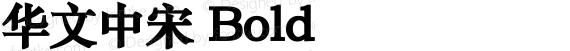 华文中宋 Bold preview image