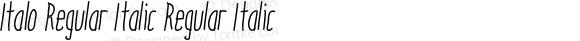 Italo Regular Italic Regular Italic