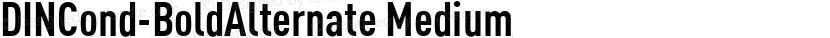 DINCond-BoldAlternate Medium Preview Image