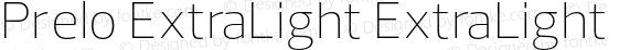 Prelo ExtraLight ExtraLight