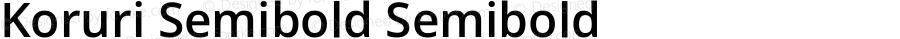 Koruri Semibold Semibold Koruri-20140319