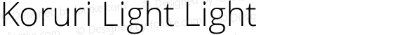 Koruri Light Light