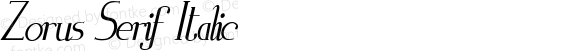 Zorus Serif Italic Version 1.0