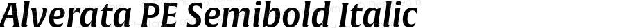 Alverata PE Semibold Italic Version 1.001