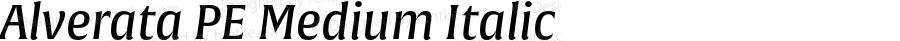 Alverata PE Medium Italic Version 1.001