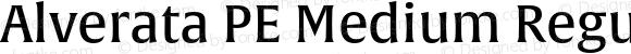 Alverata PE Medium Regular Version 1.001