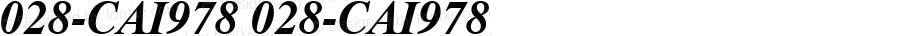 028-CAI978 028-CAI978 Version 3.0