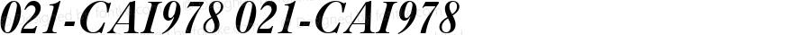 021-CAI978 021-CAI978 Version 3.0