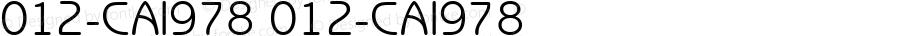012-CAI978 012-CAI978 Version 3.0