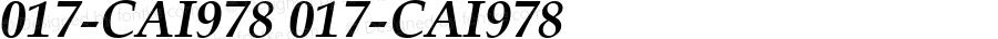 017-CAI978 017-CAI978 Version 3.0