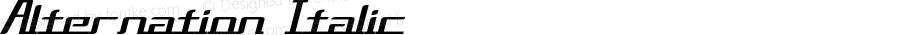 Alternation Italic Version 1.00 April 6, 2014, initial release