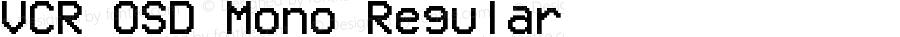 VCR OSD Mono Regular Version 1.00 April 12, 2014, initial release