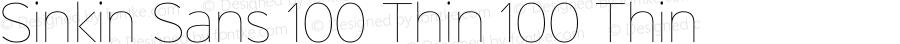 Sinkin Sans 100 Thin