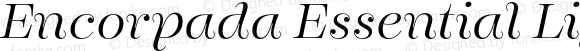Encorpada Essential Light Italic