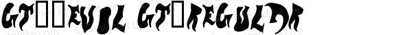 GT-_evol GT-Regular ©  2000 typesize=0, xero harrison http://type.xero.nu/