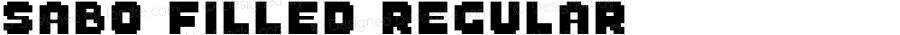 Sabo Filled Regular Version 1.001;PS 001.001;hotconv 1.0.70;makeotf.lib2.5.58329