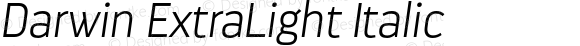 Darwin ExtraLight Italic