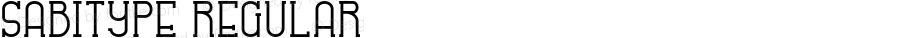 SABITYPE Regular Version 1.000;PS 001.001;hotconv 1.0.56