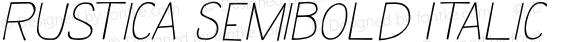 Rustica SemiBold Italic