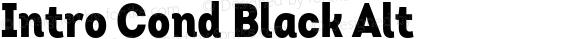 Intro Cond Black Alt Version 1.000 2014 initial release
