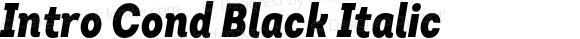 Intro Cond Black Italic Version 1.000 2014 initial release