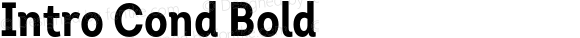 Intro Cond Bold Version 1.000 2014 initial release