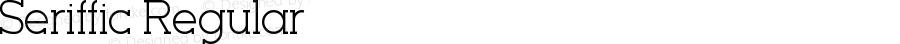 Seriffic Regular Version 1.00 May 30, 2014, initial release
