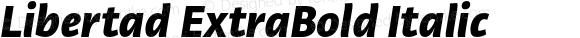 Libertad ExtraBold Italic