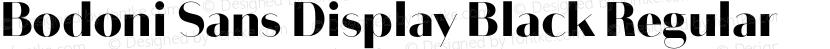 Bodoni Sans Display Black Regular Preview Image
