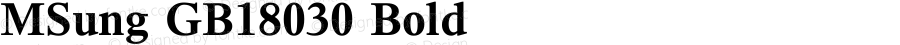 MSung GB18030 Bold