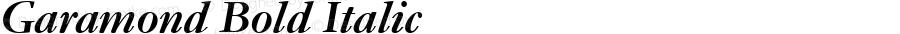 Garamond Bold Italic Version 1.00