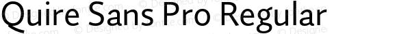 Quire Sans Pro Regular
