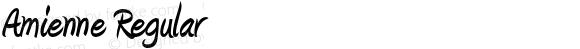 Amienne Regular OTF 2.101;PS 001.001;Core 1.0.29