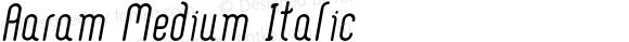 Aaram Medium Italic