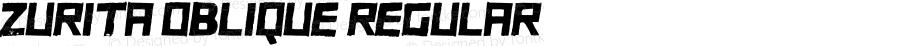 ZURITA Oblique Regular 1.000