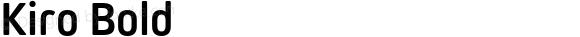 Kiro Bold