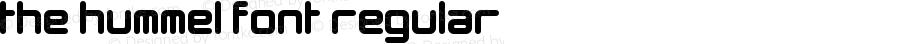 The Hummel Font Regular Version 1.0