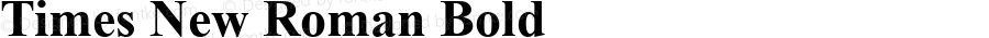 Times New Roman Bold Version 6.87