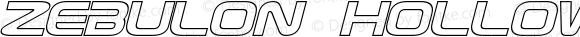 Zebulon Hollow Italic Version 1.10 July 11, 2014
