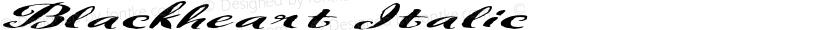 Blackheart Italic Preview Image