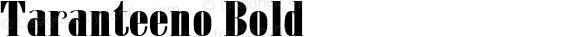 Taranteeno Bold preview image