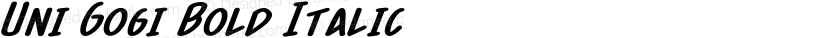 Uni Gogi Bold Italic Preview Image
